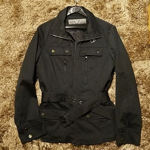 Zara women's jacket with belt, sz XL